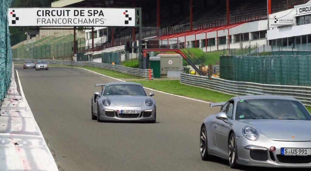 Circuit de formule 1 de Spa Francorchamps.